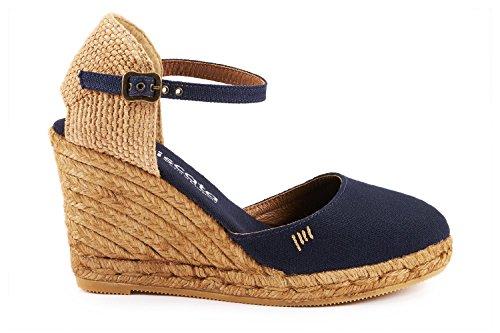 "VISCATA Satuna 3"" Wedge, Ankle-Strap, Closed Toe, Classic Espadrilles Heel Made in Spain"