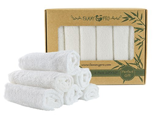 FAMMY PRO Bamboo Baby Washcloths & Towels - Ultra Soft & Absorbent for Newborn Baby