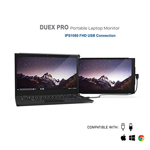 🥇 Duex Pro Upgraded Portable Monitor 12.5″ Full HD IPS Display USB A/Type-C Powered Dual-Screen Monitor