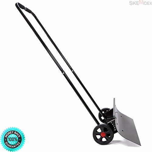 SKEMiDEX---Snow Shovels for Sale Best Snow Shovel Amazon Electric Snow Shovel Snow Shovel Reviews Best Snow Shovel and Adjustable Angle Snow Wheeled Shove Walk Behind Pusher Angled Wide Steel Blade