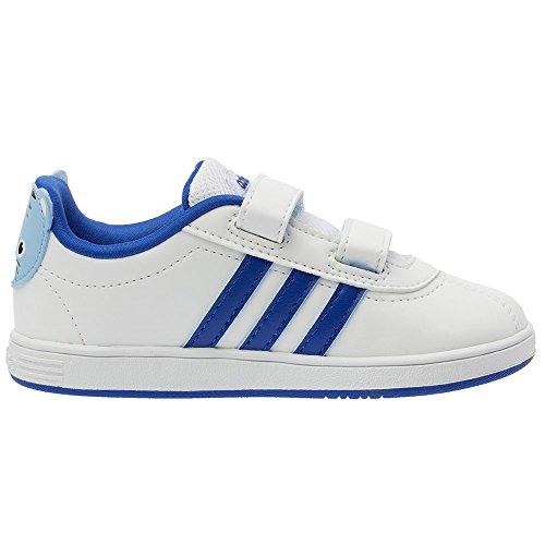adidas Neo COURT ANIMAL INF Zapatillas Sneakers Blanco Azul para Bebe AdiFit
