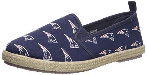 New England Patriots Espadrille Canvas Shoe - Womens Large