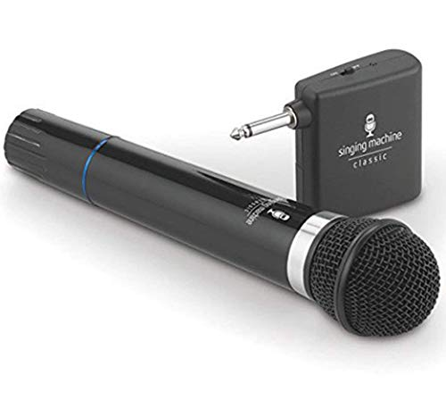 - Singing Machine SMM-107 B Wireless Microphone Uni-Directional Dynamic
