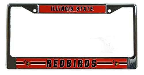 Rico Illinois State Redbirds NCAA Chrome Metal License Plate Frame