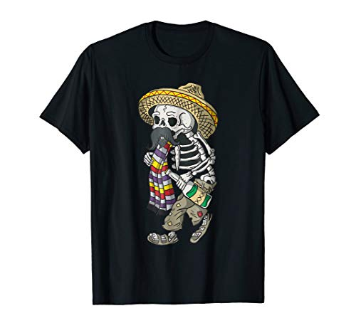 Day of the Dead Bearded Sugar Skull Halloween T-shirt -