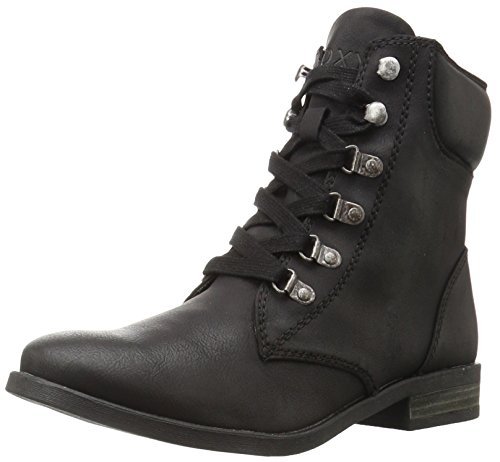Roxy Women's Fulton Motorcycle Boot, Black, 9 M US