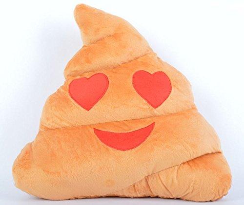 Nuevo Cojín Emoji caca forma corazón Ojos almohada de ...