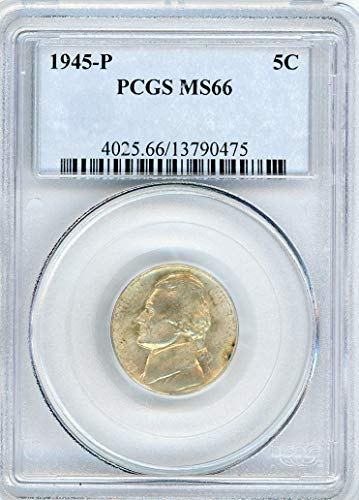 1945 P Jefferson Nickel MS-66 PCGS