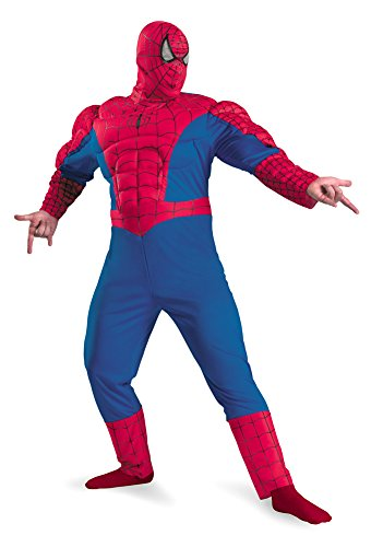 Spiderman Classic Muscle Chest Adult Mens Costume
