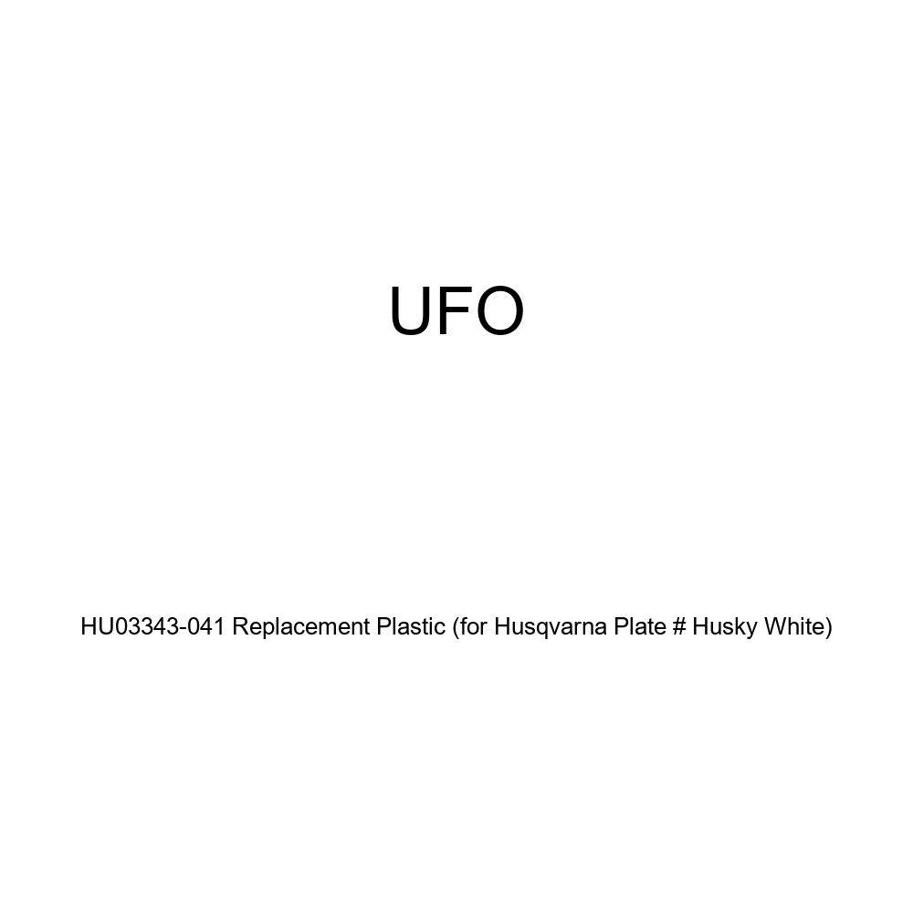 for Husqvarna Plate # Husky White UFO HU03343-041 Replacement Plastic