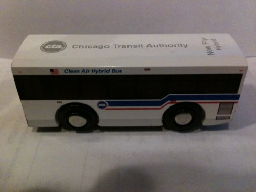 (Munipals CTA New Flyer Hybrid Bus Wooden Toy Vehicle)