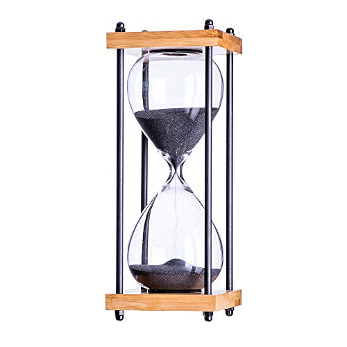 Bellaware Large Hourglass Timer, 30 Minutes Wooden Sandglass,