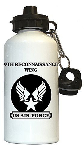 9th Reconnaissance Wing - US Air Force Water Bottle White, 1026