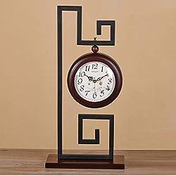 JOLLY Fashion Handmade Black Walnut Silent Table Alarm Clock