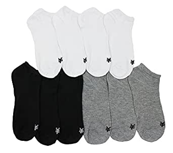 Zoo York Men Thin No Show Socks, Size 10-13 Pack of 10 *Original Style* (Newer Style)