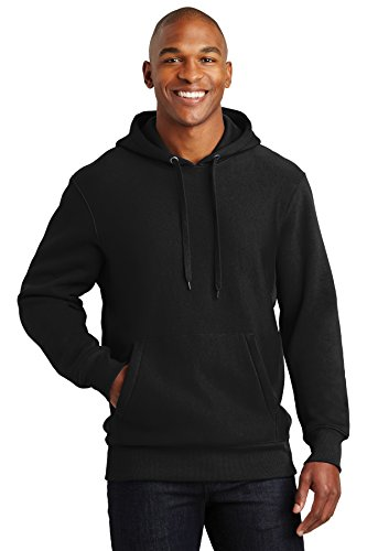 12 Ounce Pullover - Sport-Tek Men's Super Heavyweight Pullover Hooded Sweatshirt XXL Black