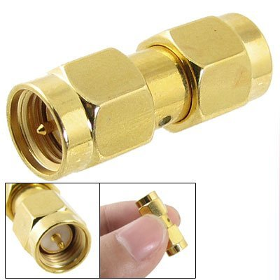 TOOGOO(R) SMA Male to SMA Male Plug in Series RF Coaxial Adapter Connector