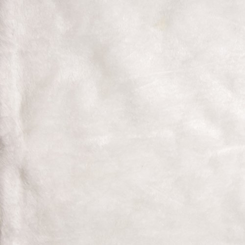 Shannon Faux Fur Weasel White Fabric By The Yard (Fur Faux White)