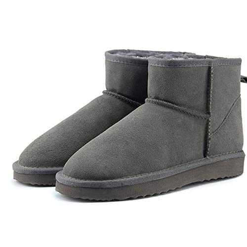 Eaglers Australia Women Snow Boots Cowhide Leather Ankle Boots Warm Winter Boots Woman Shoes Large Size 34-44