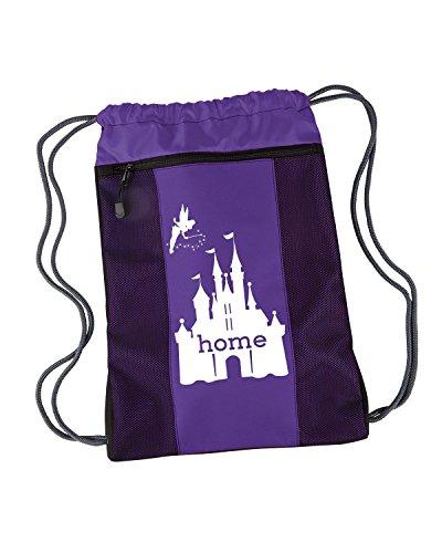 Disney Is My Home Nylon Cinch Backpack (Purple)