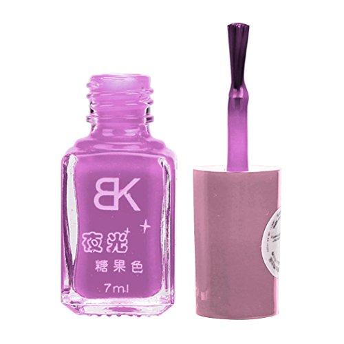 Fluorescent Neon Luminous Gel Nail Polish for Glow in Dark Latest Natural Water-Based Nail Polish (Glow In The Dark Makeup Kit)