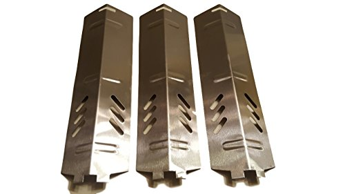 Set of Three Stainless Steel Heat Plates for Gas Grill Model Backyard Grill BY13-101-001-11 and other backyard grill models - Gas Set Grill