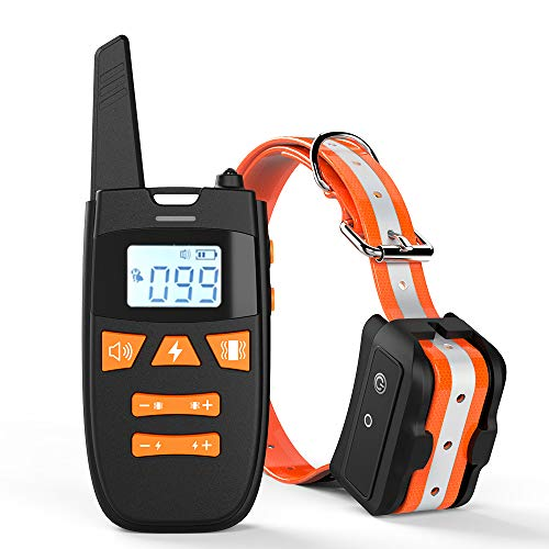 Dog Training Collar with Remote, Rechargeable Dog Shock Collar Up to Remote Range 2000FT & IPX7...
