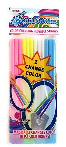 Magic Cool Change Reusable Color Change Straws ()