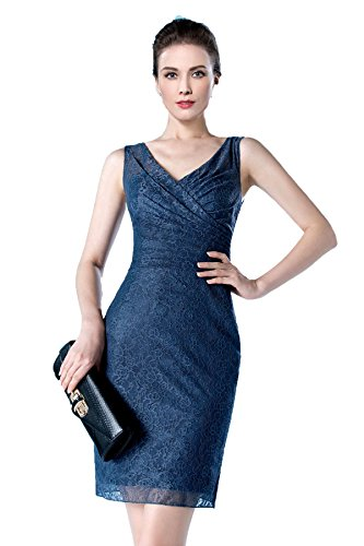 Sisjuly Women's Short Column Lace V Neck Formal Dress for sale  Delivered anywhere in USA