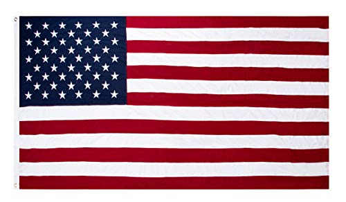 Juvale Memorial Flag - 5x9.5 Feet US Burial Casket Flag, Cotton Interment Flag with Embroidered Stars and Sewn Stripes