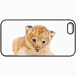 Customized Cellphone Case Back Cover For iPhone 5 5S, Protective Hardshell Case Personalized Lion Cub Black