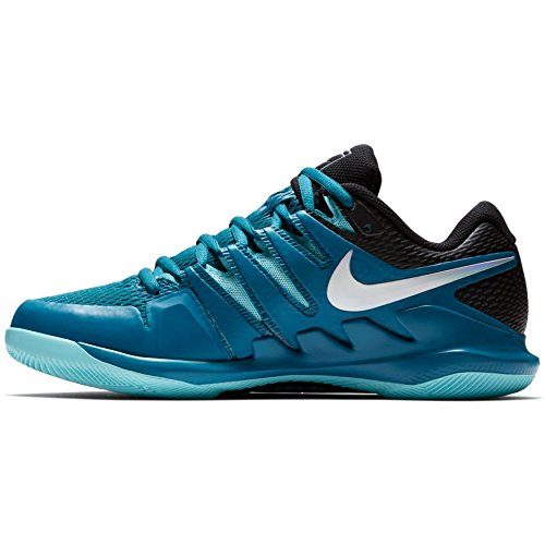 c88abc279afd8 Nike Men's Zoom Vapor X Tennis Shoes (8 D US, Green  Abyss/Multi-Color/Bleached Aqua)