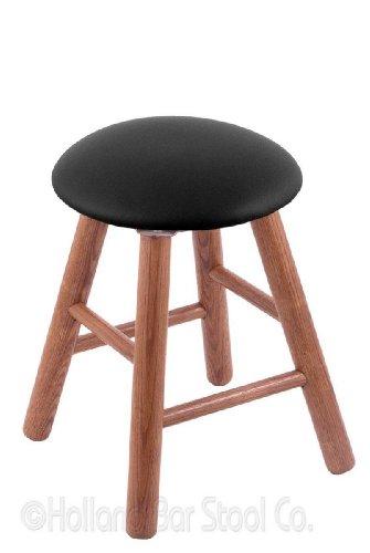 Oak Vanity Stool in Medium Finish with Black Vinyl Seat price
