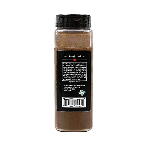 Loving Spoonful 16oz (454g) Premium Ground Cloves | Food Service 1lb Bulk Size (Bottle) by Loving Spoonful (Image #1)