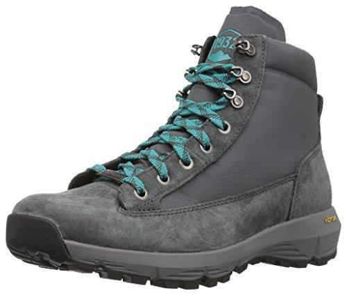 "Danner Women's Explorer 650 6"" Hiking Boot, Gray/Bright Blue, 7.5 M US"