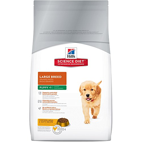 Hill's Science Diet Large Breed Puppy Food, Chicken Meal & Oats Dry Dog Food, 30 lb Bag Healthy Growth Puppy Food