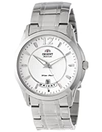 Orient Men's CEV0M001W 21 Jewel Automatic with Full Day and Date White Face