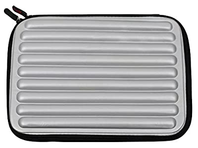 "Silver Laptop Sleeve / Case in Shock-Absorbing & Water-Resistant Memory Foam for the Xiaomi Mi Notebook Air 12.5"" - by DURAGADGET"