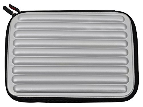 Silver Shock And Water Resistant Memory Foam Case For Coby Swivel Screen Portable DVD Player 10.2