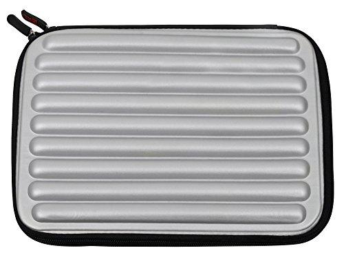 Silver Laptop Sleeve / Case in Shock-Absorbing & Water-Resis