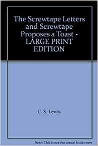 book peg the screwtape reasons