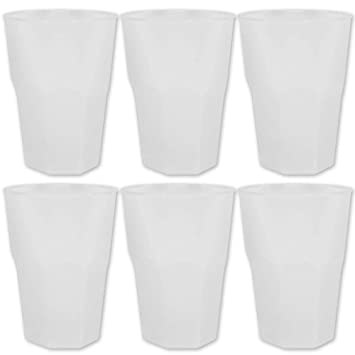 TW24 Kunststoff Gläser - Trinkgläser Gartenparty - Camping Mehrwegbecher - Mehrweg Cocktailgläser 6 Stück mit Farbauswahl (Kl