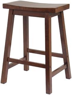 Winsome Saddle Seat 24-Inch Counter Stool Walnut  sc 1 st  Amazon.com & Amazon.com: ACME 07303 Set of 2 Gaucho Stool 18-Inch Walnut ... islam-shia.org