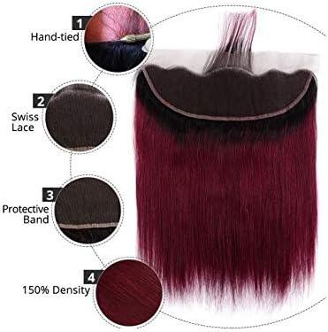 Mostfar Ombre pelo rojo Borgoña Cabello humano paquetes con ...