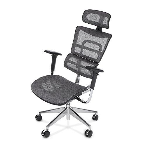 IKayaa Adjustable Ergonomic Office Chair High Back Swivel Computer Chairs Wi