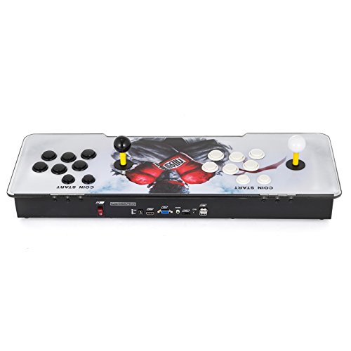Happybuy Video Game Console, Arcade Machine 1500 Classic Games, 2 Players Pandora's box 5S multiplayer home Arcade Console 1500 Games All in 1 NON-JAMMA PCB Double Stick Newest Design Buttons Power HD by Happybuy (Image #9)