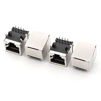 Amazon.com: DealMux RJ45 8P8C Jack Modules PCB Mount Network ...
