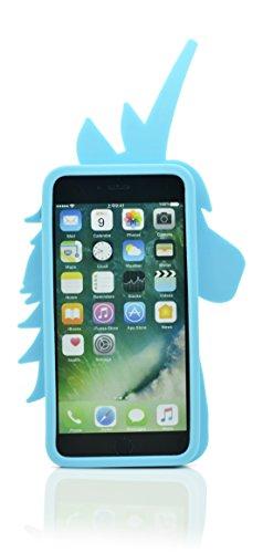 """iProtect coque de protection souple pour Apple iPhone 6 Plus (5,5"""") - design Licorne 3D - en bleu"""