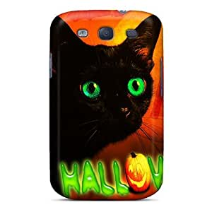 Excellent Design a??a??a?? Happy Halloween Cat a??a??a?? Case Cover For Galaxy S3 by Maris's Diary