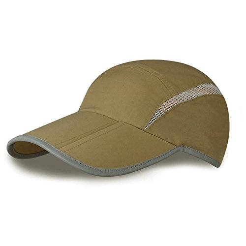MerryJuly Baseball Cap Quick Dry Sun Hats UPF50+ Portable Travel Hats for Sports Golf Running Fishing Outdoor Research with Foldable Long Large Bill ()